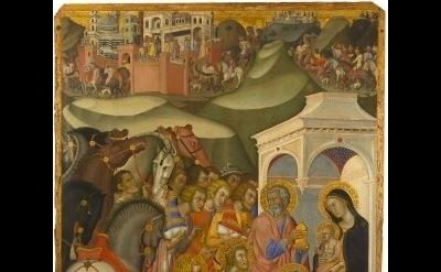 Bartolo di Fredi (1375-1385), Adoration of the Magi, Tempera and gold leaf on pa