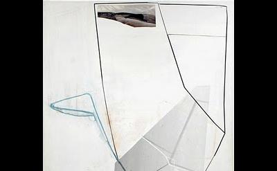 Gordon Moore, Hood, 2011, oil, pumice, latex on canvas, 82 x 56 inches (courtesy