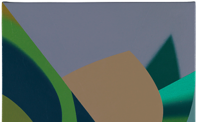 Tomma Abts, Groen\Welf, 2015, acrylic & oil on canvas 18 7/8 × 14 1/2 inches (co