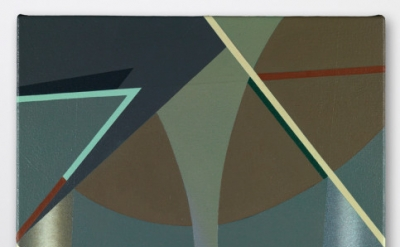 Tomma Abts, Voke, 2013, acrylic and oil on canvas, 18 7/8 x 15 inches (courtesy