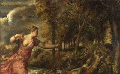 Titian, The Death of Actaeon about 1559-75 (National Gallery, London)