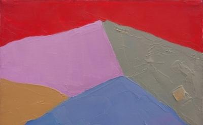 Etel Adnan, untitled, 2000-2005, oil on canvas, 9 x 12 inches, 22.9 x 30.5 cm (c