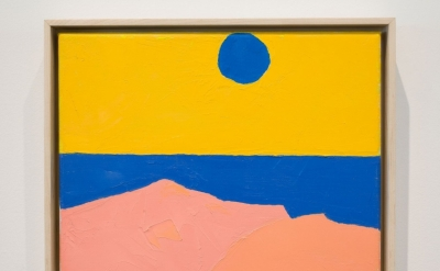 Etel Adnan, Untitled, 2012, oil on canvas, 9 1/2 x 11 3/4 inches (courtesy of Ca