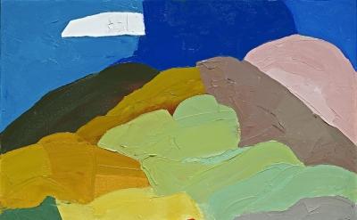 Etel Adnan, Untitled (Mt. Tamalpais 1), 1995–2000, oil on canvas, 35.5. x 45.5.cm (courtesy of the artist and Sfeir-Semler Gallery, Hamburg/Beirut)