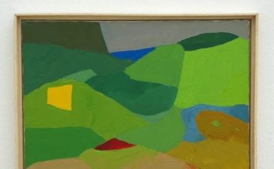 Etel Adnan, Untitled, oil on canvas (courtesy of the artist)