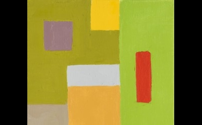 Etel Adnan, Untitled, 2015, oil on canvas, 13.75 x 10.6 inches (courtesy of Gale