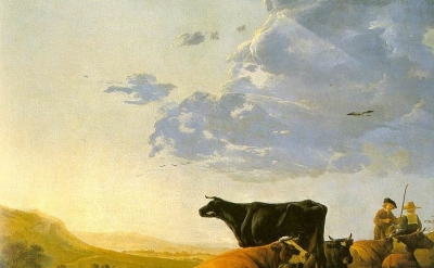 Aelbert Cuyp, Young Herdsman with Cows, c. 1665
