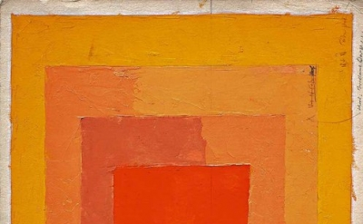 Josef Albers, Color Study for Homage to the Square (not dated), oil on blotting