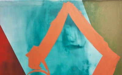 Sonia Almeida, Diagonal Pathway, 2011, Oil on canvas, 78 × 58 inches (courtesy o