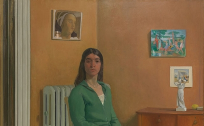 Lennart Anderson, Portrait of Barbara S, 1976–77, oil on canvas, 72 1/8 × 60 1/4