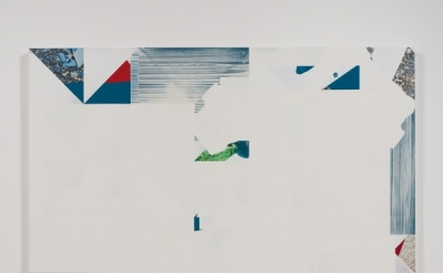 Kevin Appel, Salton Sea (green rug), 2012, acrylic, oil, and UV cured ink on can