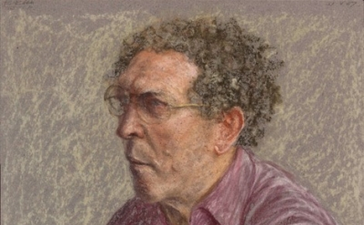 Avigdor Arikha, Self-Portrait in a Fuchsia Shirt, 1987. (© The Estate of Avigdor