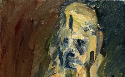 Frank Auerbach, Portrait of Catherine Lampert, 2010, oil on canvas, 20 1/8 × 22