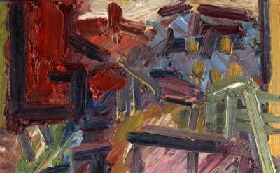 Frank Auerbach, Next Door II, 2012, oil on board, 50.8 x 45.7 cm (courtesy of Ma