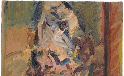 Frank Auerbach, Head of Catherine Lampert, 2003–4, oil on canvas, 514mm x 559mm