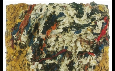Frank Auerbach, Portrait of E.O.W., oil on board, 1964, 45.7 x 38.1 cm (Private