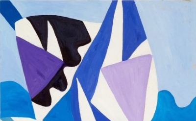 Painting by Gillian Ayres (courtesy of Alan Cristea Gallery)