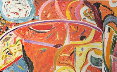 Gillian Ayres, Hazy Shade of Winter, 1998–1999, oil on canvas, 96 x 96 inches (c