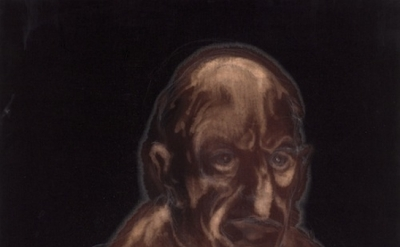 Miquel Barceló, Colm, 2011, bleach, chalk, and charcoal on linen, 46 1/2 × 35 in