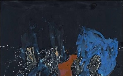 Georg Baselitz, Komplementär bräunlich 2012, oil on canvas, 114.17 x 81.89 inche