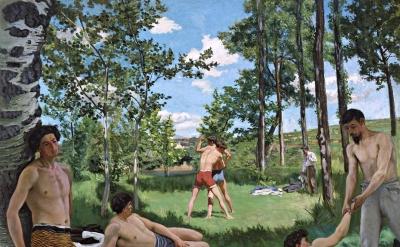 Frédéric Bazille, Summer Scene (Bathers), 1869-70 (courtesy of Harvard Art Museums)