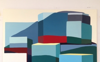 Louise Belcourt, Mound 3, 2011-2012, oil on canvas, 76 x 85 inches(courtesy of t