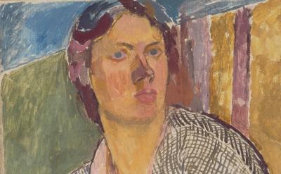 Vanessa Bell, Self –Portrait, c. 1915 (Photograph: Richard Caspole/The Estate of Vanessa Bell, courtesy of Henrietta Garnett)