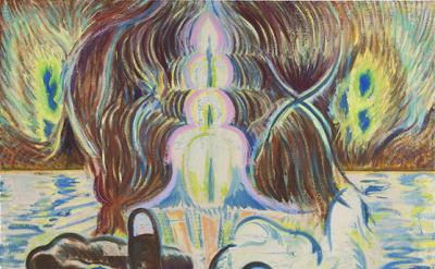 Michael Berryhill, Schmevelations, 2012, oil on canvas, 58 x 50 inches (courtesy