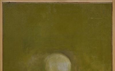 Jake Berthot, Skull, 2012, oil on linen, 27 1/8 x 21 1/8 inches (courtesy Betty