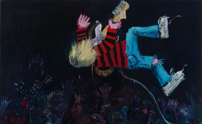 Todd Bienvenu, Kurt, 76 x 67 inches, oil on canvas (courtesy of the artist)