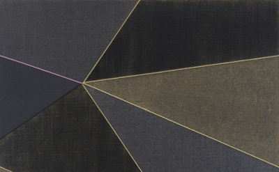 Katrina Blannin, Double Hexad-Black Grey Naples, 2013, acrylic on linen, 60 x 50