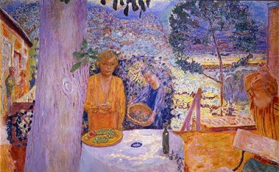 Pierre Bonnard, The Terrace at Vernonnet, 1920-39, oil on canvas, 58 1/4 x 76 3/