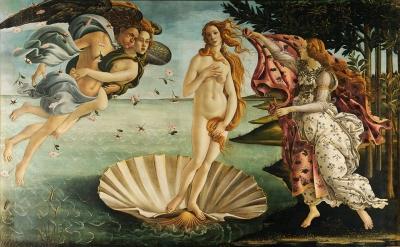 Sandro Botticelli, Birth of Venus, c. 1486, tempera on canvas (Uffizi, Florence)
