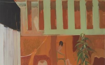 Gabriella Boyd, Orange Room, Diptych, oil on canvas, 2011, 260 x 160 cm