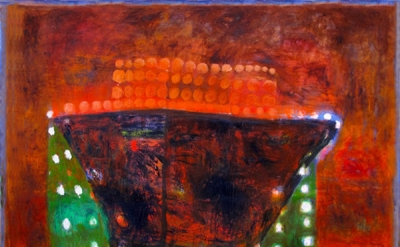 Katherine Bradford, Sargasso, 2012, Oil on canvas, 56 × 66 inches (courtesy of E