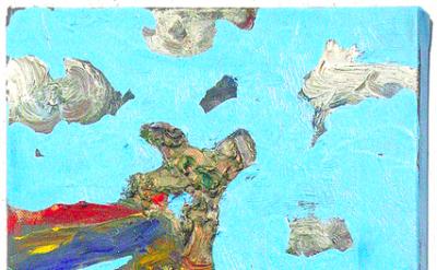 Farrell Brickhouse, New World Types- Arrival, 2013, oil on canvas, 14 x 10 inche