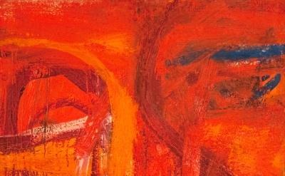 Fritz Bultman, Hotter, 1962, oil on canvas, 30 x 24 inches (courtesy of Edelman