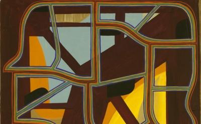 Tom Burckhardt, Economy Skeleton, 2012, oil on cast plastic, 40 x 32 inches (cou