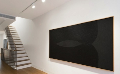 Installation view: Alberto Burri, Nero Cellotex, 1986-1987, acrylic and vinavil