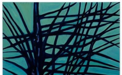 Caro Niederer, Steinmenschen (Stone Figures), 2012, oil on canvas, 102 3/8 x 68