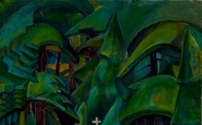 Emily Carr, Indian Church, 1929, oil on canvas, 42 3/4 x 27 1/8 inches (Art Gall