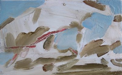 Simon Carter, Clouds over the Sea, 2013, acrylic on canvas, 25.5 x 30.5cm (court
