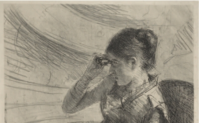 Mary Cassatt, Woman Seated in a Loge, ca. 1881, Lithograph State: i/ii, Samuel P
