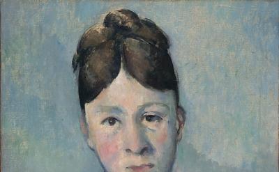 Paul Cézanne, Madame Cézanne, ca. 1885, oil on canvas, 18 1/8 x 15 inches (Priva
