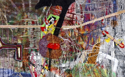 Steven Charles, Tehaey, 2011, Acrylic, acrylic gel, and glitter on canvas, 14 x