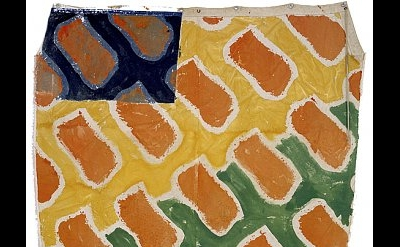 Claude Viallat, Untitled No. 103, 2002, Acrylic on canvas, 96  x 66 inches (cour