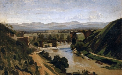 Jean-Baptiste-Camille Corot, 1825, oil on paper mounted on canvas, 13.4 x 18.9 i