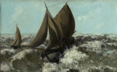 Gustave Courbet, The Sailboat (Seascape) (Sterling and Francine Clark Art Instit