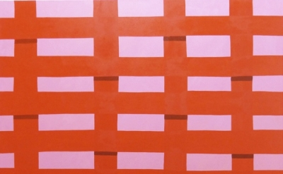 Corydon Cowansage, Fence #30, 2013, oil on canvas, 72 x 50 inches (courtesy of G