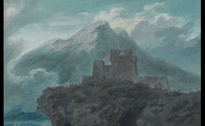 John Robert Cozens, A Ruined Fort Near Salerno, c. 1782 (The Courtauld Gallery)